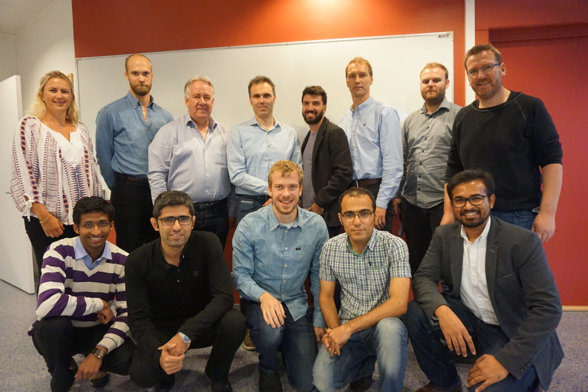 B.L: Linn, Ulf Jacob Aarsnes (IRIS), Prof. Will Schilders (TU/e), Prof. Nathan Van der Wouw (TU/e), Prof. Florent Di Meglio (Mines ParisTech), Glenn-Ole, Christian and Geir Arne. F.L: Harshit Bansal (TU/e), Mohammad Hossein Abbasi (TU/e), Jon Åge, Sajad Naderi Lordejani (TU/e) and Naveen Velmurugan (Mines ParisTech).